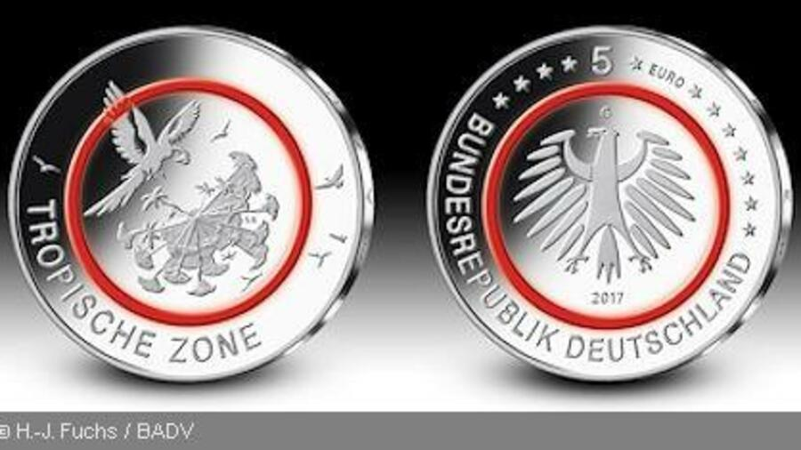 Tropische Zone Die Neue Fünf Euro Münze Kommt Am 27 April