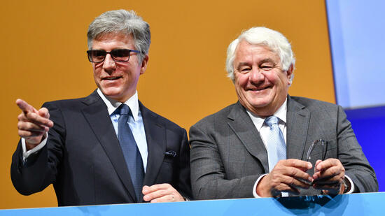 SAP-Chef Bill McDermott (links) mit Gründer Hasso Plattner