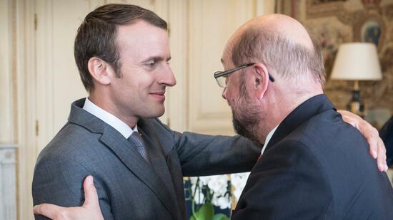 Besuch in Frankreich: Schulz glaubt nach Treffen mit Macron an seine Chance