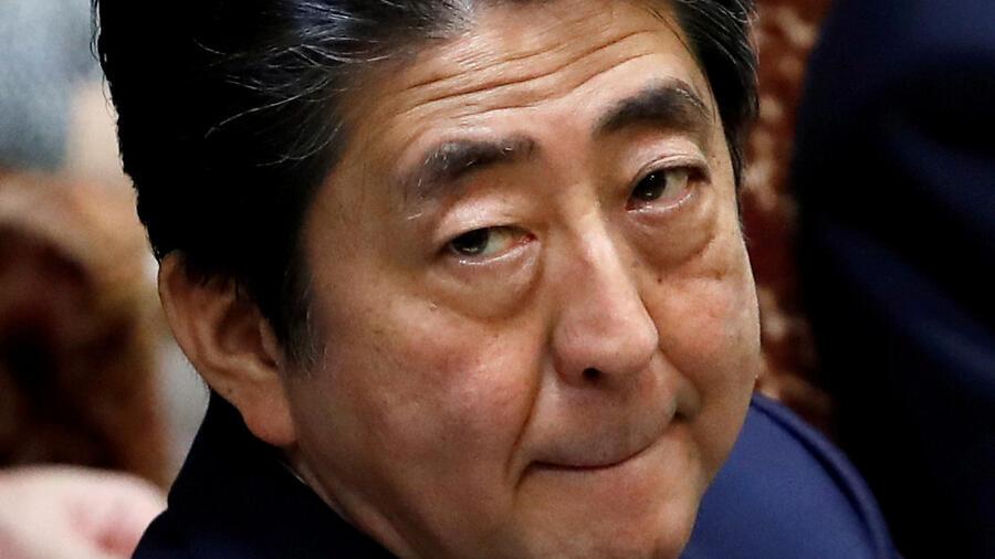 Japans Premier Shinzō Abe im Tief