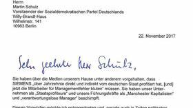 Stellenabbau Bei Siemens Kaesers Brief An Martin Schulz Im Wortlaut