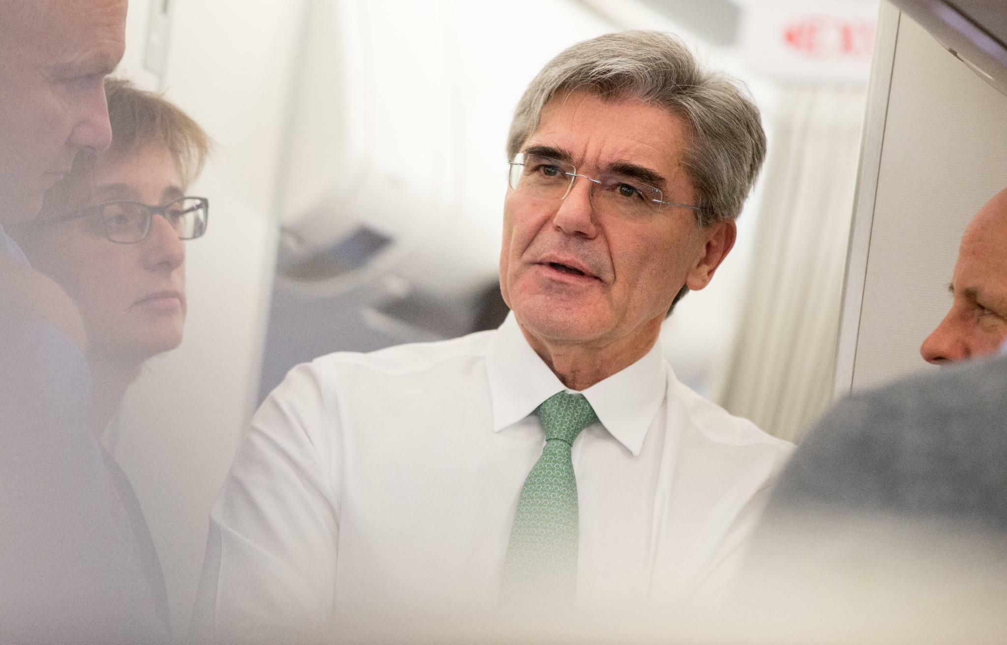 Siemens-Chef Joe Kaeser warnt davor, dass Europa abgehängt wird
