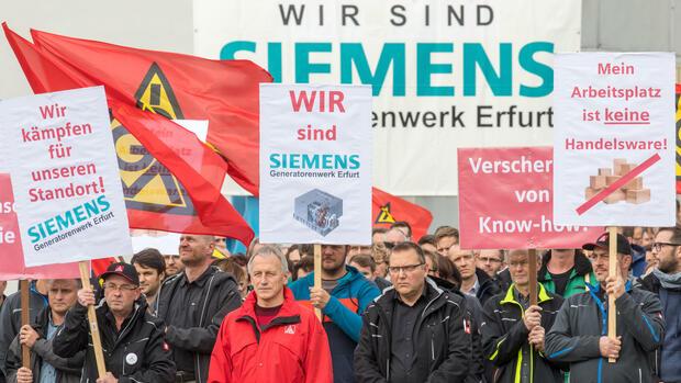 Siemens: Angst vor Jobverlusten an ostdeutschen Standorten