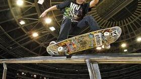 Skateboarder Axel Cruysberghs. Foto: T-Mobile Quelle: SID