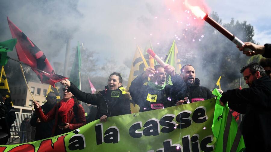 Streik Frankreich Bahn