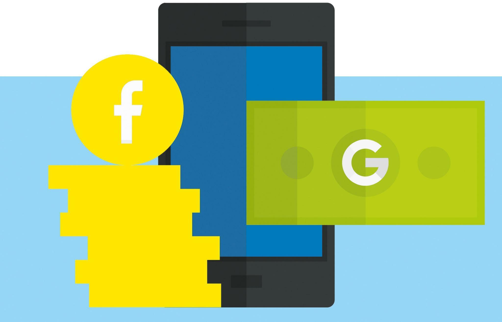 Google und Facebook: US-Konzerne planen neue Angriffe auf Banken