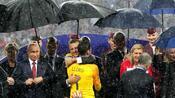 Fußball: Triefnasse Staatschefs: Platzregen bei WM-Siegerehrung