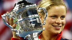Strahlende Siegerin: Kim Clijsters. Foto: Bongarts/Getty Images Quelle: SID