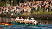 Rudern: Deutschland-Achter siegt in Basel mit Streckenrekord