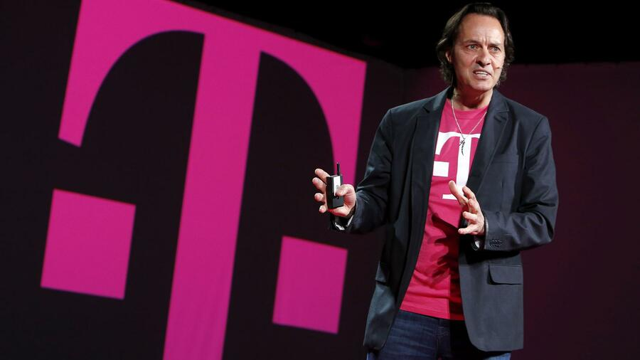 Die Telekom-Tochter T-Mobile (hier: CEO John Legere) will MetroPCS-Aktionäre überzeugen. (Foto: T-Mobile//Gary He/Insider Images) Quelle: Reuters