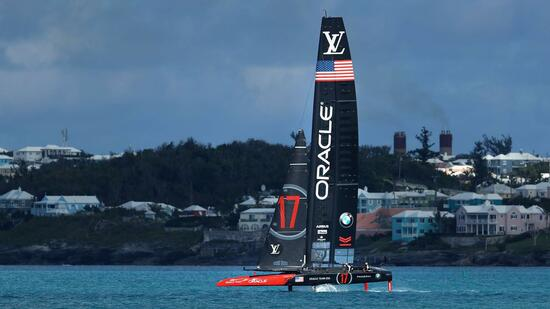 Team Oracle USA beim America's Cup
