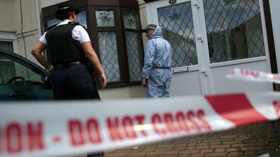 Im Londoner Stadtteil Ilford gab es eine weitere Festnahme. Quelle AFP