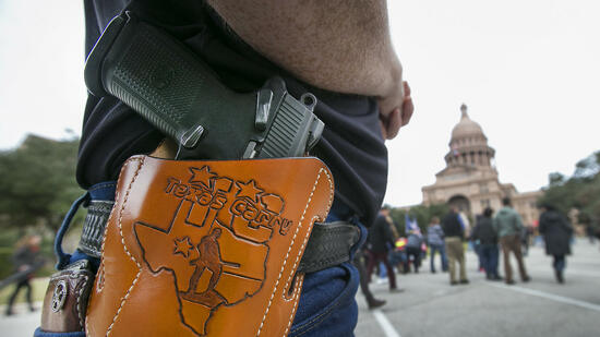 "Terry Holcomb von ""Texas Carry"" in Austin"