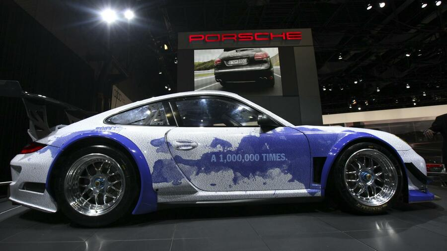Porsche 911 GT3 Hybrid auf der New York International Auto Show. Quelle: Reuters
