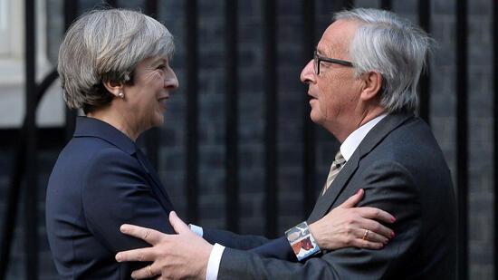 May und Juncker für schnellere Brexitverhandlungen