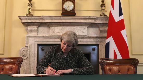 May will am 29. März EU-Austrittserklärung abgeben