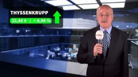 Börsen-Berichte: Thyssenkrupp-Kurssprung hievt Dax in die Gewinnzone