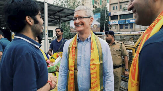 Tim Cook in Indien