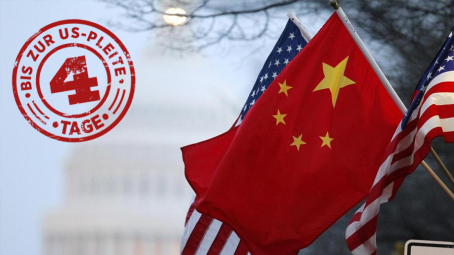 Flaggen der USA und Chinas. Quelle: Reuters