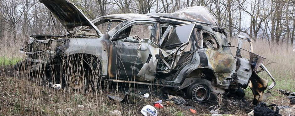 Minenexplosion: Ukraine will Tod von OSZE-Mitarbeiter untersuchen