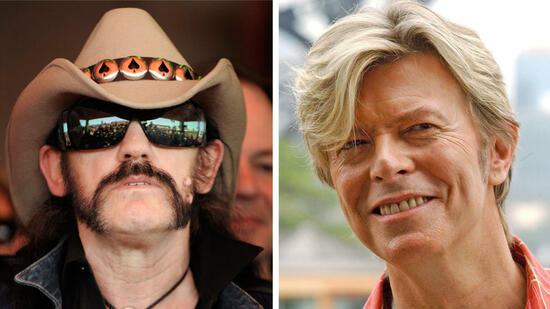 rock legend David Bowie (r.) and Motorhead singer Lemmy are two cases in a long list of celebrities who have died of cancer. Malignant tumors are to cardiovascular disease, the second cause of death in Germany. Frequently it's fate, but the lifestyle can significantly affect the risk of cancer, as experts stress. Source: dpa