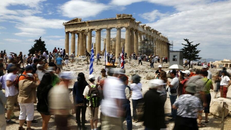 Touristen in Athen. Quelle: Reuters
