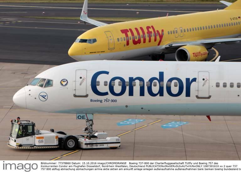 Tui spricht mit Condor über Ferienflieger