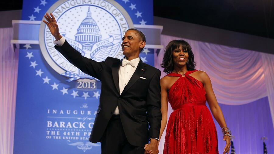 US-Präsident Barack Obama und seine Ehefrau Michelle Obama beim Inaugural Ball in Washington. Quelle: Reuters