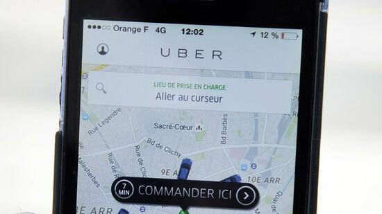 With new technology the dispatcher-broker Uber wants to improve its offer. Source: AFP