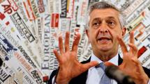 UN High Commissioner for Refugees Filippo Grandi meets the journalists at the foreign press club in Rome, Friday, Sept. 14, 2018. (AP Photo/Gregorio Borgia) Quelle: AP