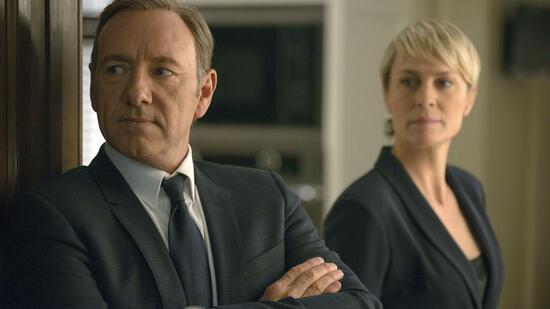 USAKevin Spacey als Francis Underwood und Robin Wright als Clair Underwood in einer Szene aus