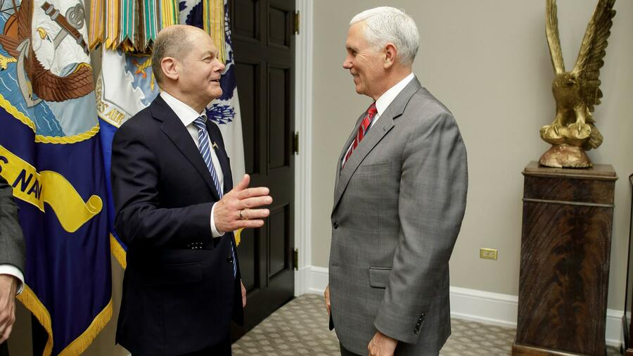 International: US-Handelsstreit: Scholz nach Treffen mit Pence optimistisch