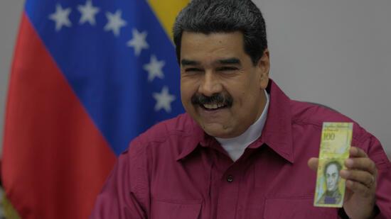 000-Bolivar-Schein: Maduro kämpft gegen Hyperinflation