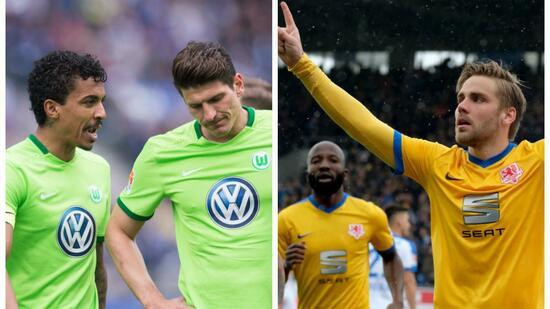 Die beiden vom Volkswagen Konzern gesponserten Teams aus Niedersachsen könnten in der Bundesliga Relegation aufeinandertreffen. Quelle dpa