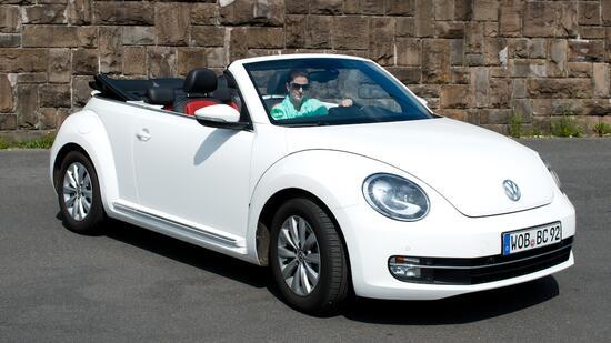vw beetle cabrio im autotest: der beetle ist mit nur 105 ps