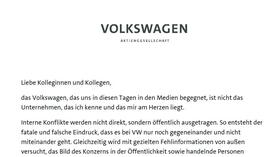 Download: Der Brief von VW-Chef Müller im Wortlaut
