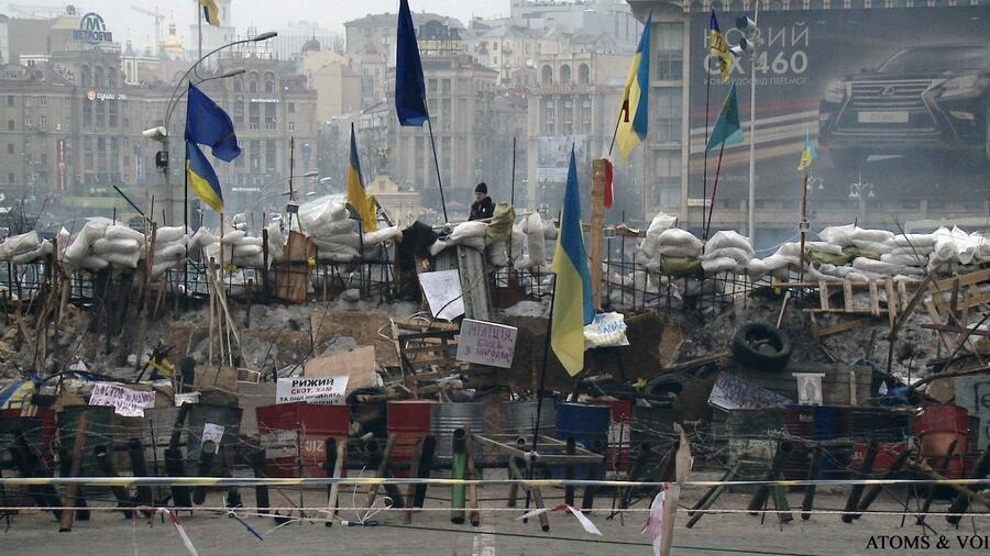 "A scene from ""Maidan"" by Sergei Losnitza about the protests in Ukraine's capital Kiev. Source: courtesy of NIHRFF"