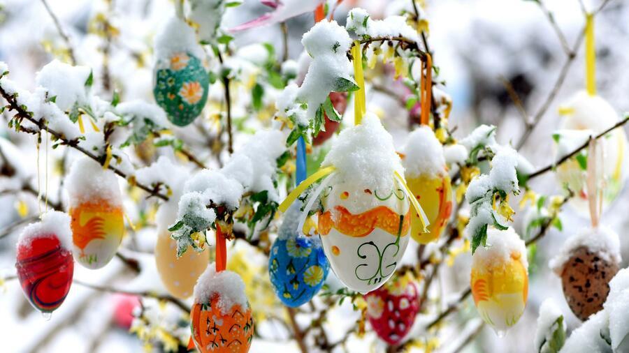 Bei der Ostereiersuche droht vielerorts Schnee