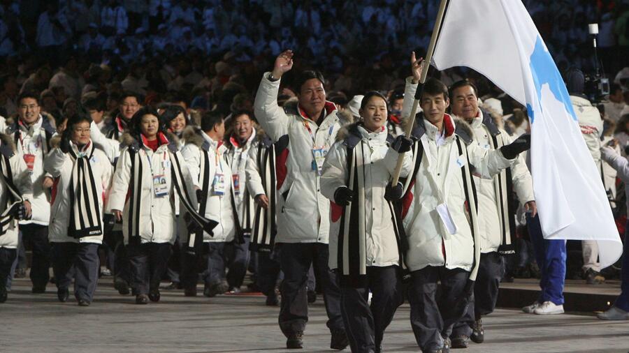 Olympia: Süd- und Nordkorea laufen gemeinsam ins Stadion ein