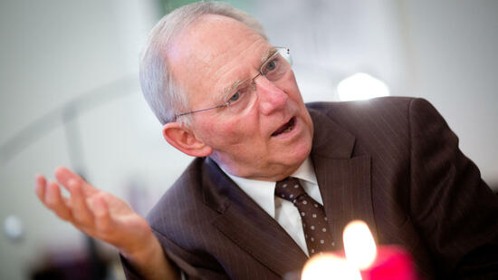 "Bundesfinanzminister Wolfgang Schäuble: ""It will not happen, that there will be a Staatsbankrott in Greece."" Quelle: dpa"
