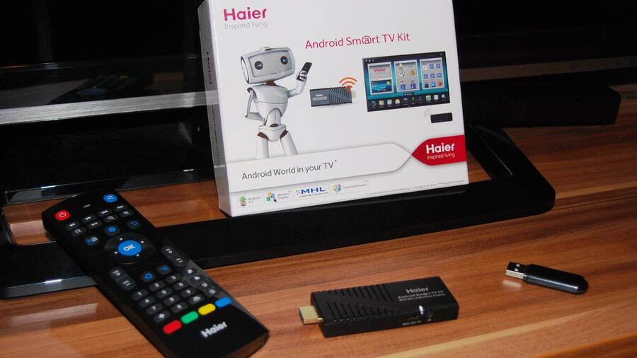 haier smart tv kit das kann ihr fernseher mit dem schlauen android stick. Black Bedroom Furniture Sets. Home Design Ideas