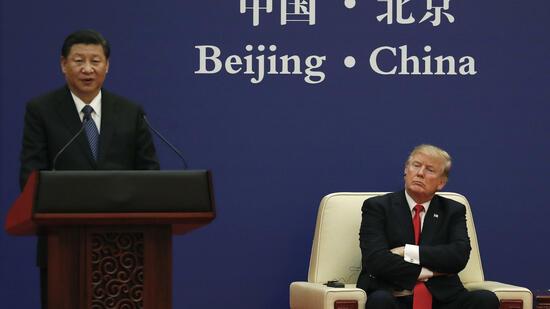 Xi und Trump treffen Presse