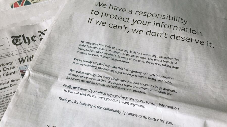 Facebook-Chef entschuldigt sich für Datenaffäre